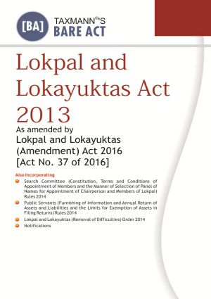 Lokpal and Lokayuktas Act 2013