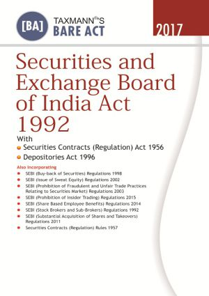 Securities and Exchange Board of India Act 1992 (e-book)