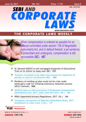 SEBI and Corporate Laws - The Corporate Laws (Weekly) with 2 Daily e-Mail Alerts