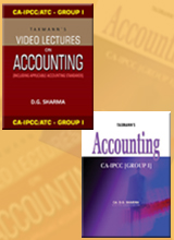 Accounting (Text Book) with Video Lectures on Accounting (Set of 8 DVDs) - (CA-IPCC) (Group I)