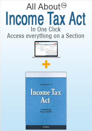 Income Tax Act (Printed Book) with All About Income-tax Act (Web)