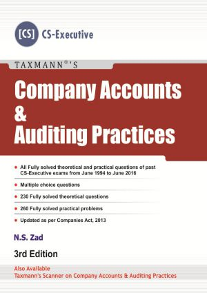 Company Accounts and Auditing Practices (CS -Executive) by N S Zad