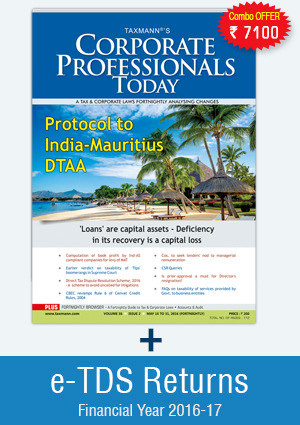 Combo Offer Corporate Professionals Today with e-TDS Returns ( Single User)