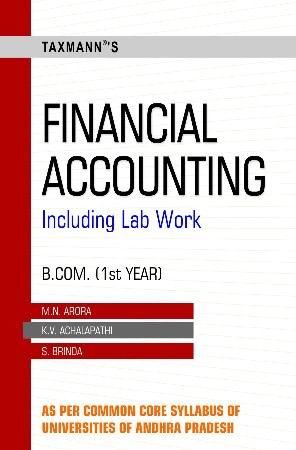Financial Accounting (B Com-Ist Year)