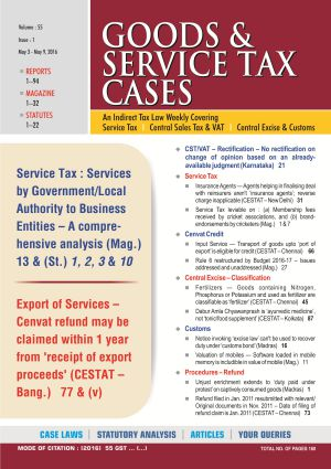 Goods & Service Tax Cases