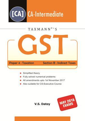GST (CA-Intermediate) by V.S Datey