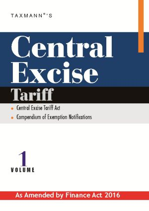 Central Excise Tariff (Vol 1)