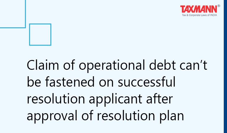 Approval of resolution plan Corporate insolvency resolution process