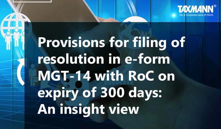 filing of resolution in e-form MGT-14 with RoC