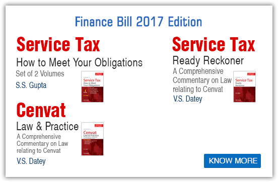 Finance Bill 2017 (service tax)
