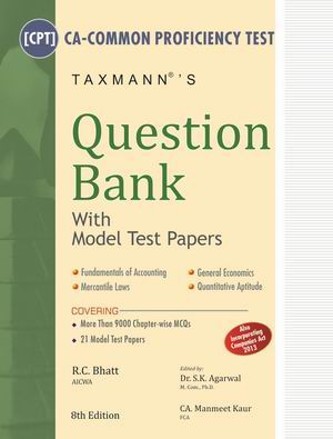 Question Bank With Model Test Papers (CA-CPT)