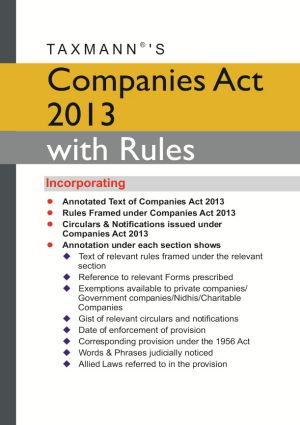Companies Act 2013 with Rules (Paperback Pocket Edition)