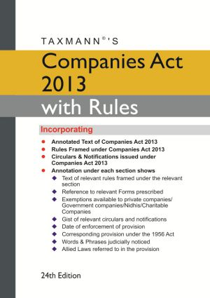 Companies Act 2013 with Rules ( Hardbound Pocket Edition)