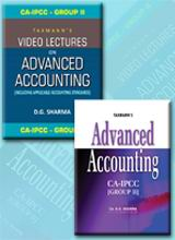 Advanced Accounting (Text Book) with Video Lectures on Advanced Accounting (Set of 6 DVDs)  - (CA-IPCC) (Group II)