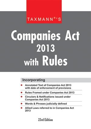 Companies Act with Rules 2013 (Hardbound Pocket Edition)