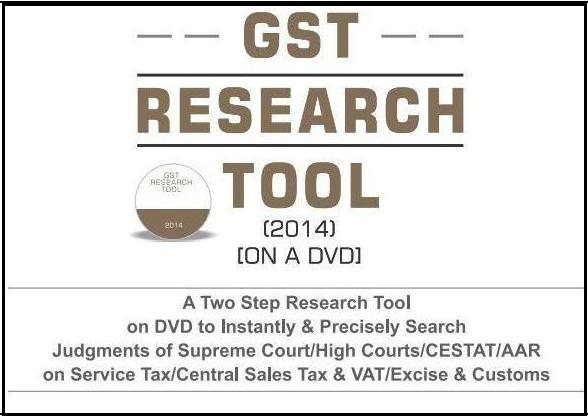 GST Research Tool (2014) [On a DVD]