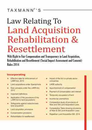 Law Relating To Land Acquisition Rehabilitation & Resettlement
